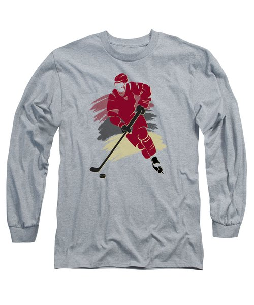 Phoenix Coyotes Player Shirt Long Sleeve T-Shirt by Joe Hamilton