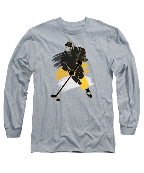 Pittsburgh Penguins Player Shirt Long Sleeve T-Shirt by Joe Hamilton