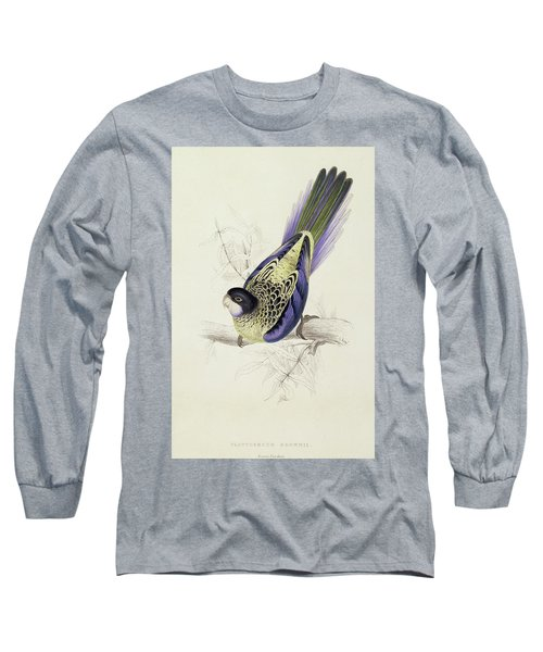 Platycercus Brownii, Or Browns Parakeet Long Sleeve T-Shirt by Edward Lear
