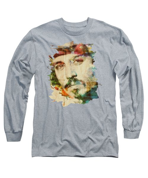 Portrait Of Johnny Long Sleeve T-Shirt by Maria Arango