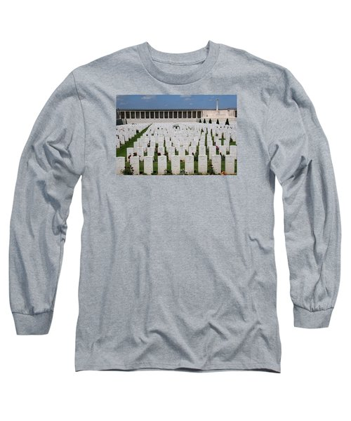 Long Sleeve T-Shirt featuring the photograph Pozieres British Cemetery by Travel Pics