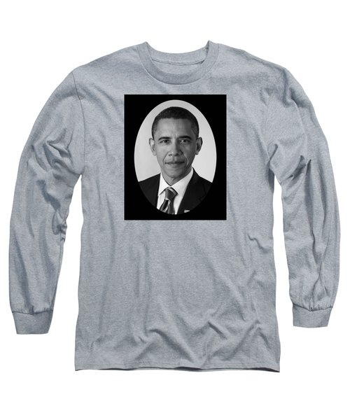 President Barack Obama Long Sleeve T-Shirt by War Is Hell Store