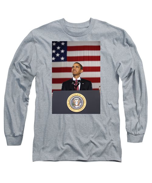 President Obama Long Sleeve T-Shirt by War Is Hell Store