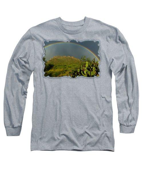 Pusch Ridge Rainbow H38 Long Sleeve T-Shirt by Mark Myhaver