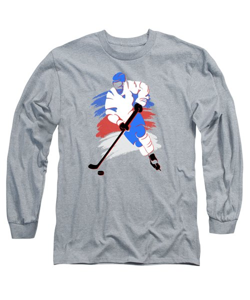 Quebec Nordiques Player Shirt Long Sleeve T-Shirt by Joe Hamilton