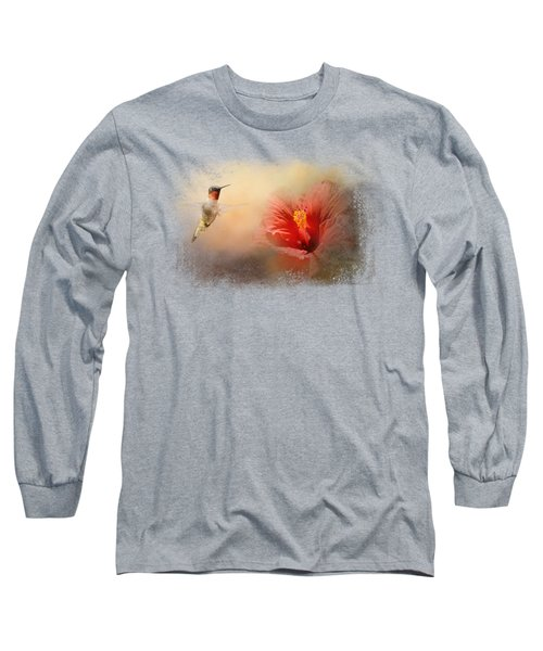 Romancing The Hibiscus Long Sleeve T-Shirt by Jai Johnson
