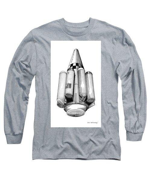 Rombus Heavey Lift Reusable Rocket Long Sleeve T-Shirt by Jack Pumphrey