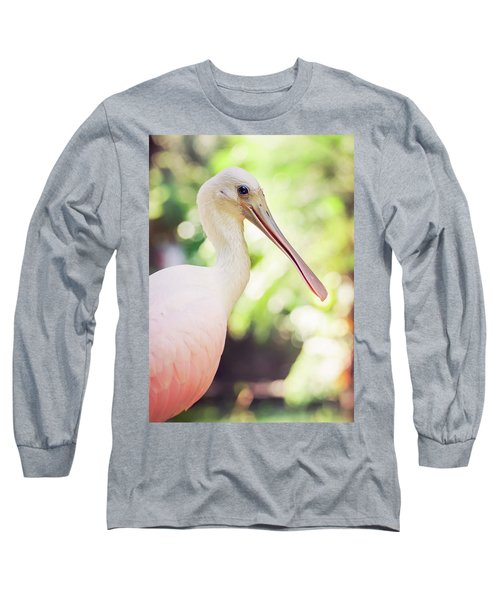 Roseate Spoonbill Long Sleeve T-Shirt by Heather Applegate