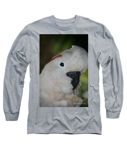 Salmon Crested Cockatoo Long Sleeve T-Shirt by Sharon Mau