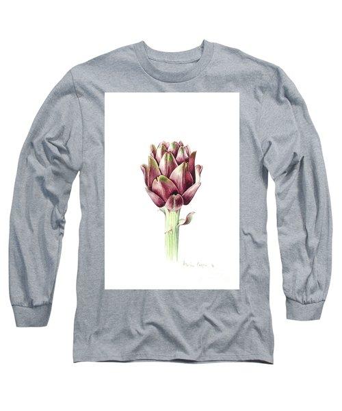 Sardinian Artichoke Long Sleeve T-Shirt by Alison Cooper