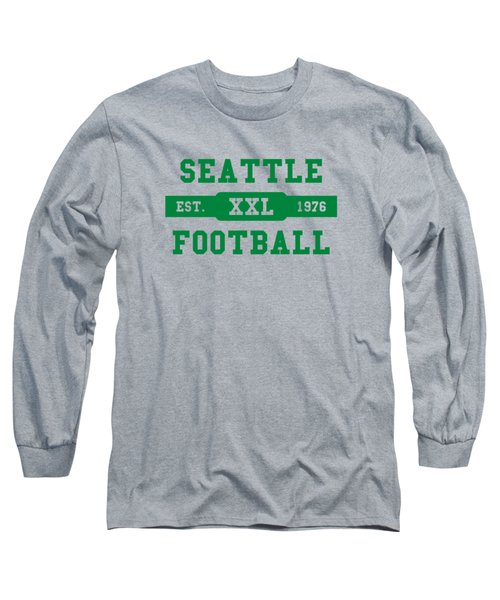 Seahawks Retro Shirt Long Sleeve T-Shirt by Joe Hamilton