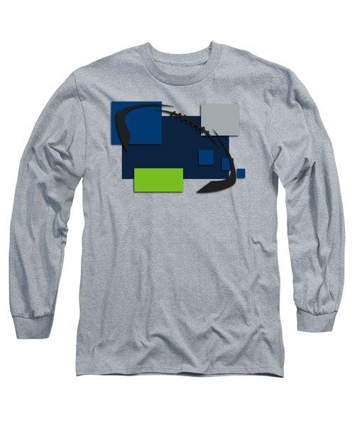 Seattle Seahawks Abstract Shirt Long Sleeve T-Shirt by Joe Hamilton
