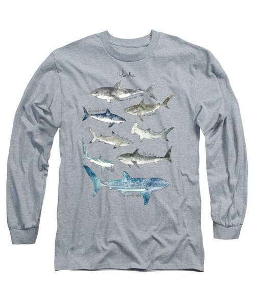 Sharks Long Sleeve T-Shirt by Amy Hamilton
