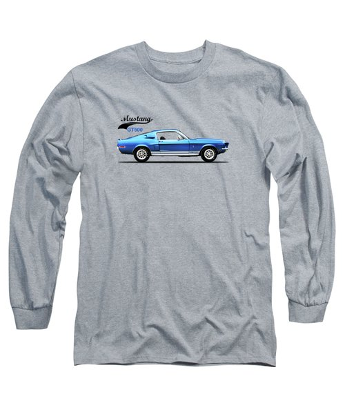 Shelby Mustang Gt500 1968 Long Sleeve T-Shirt by Mark Rogan