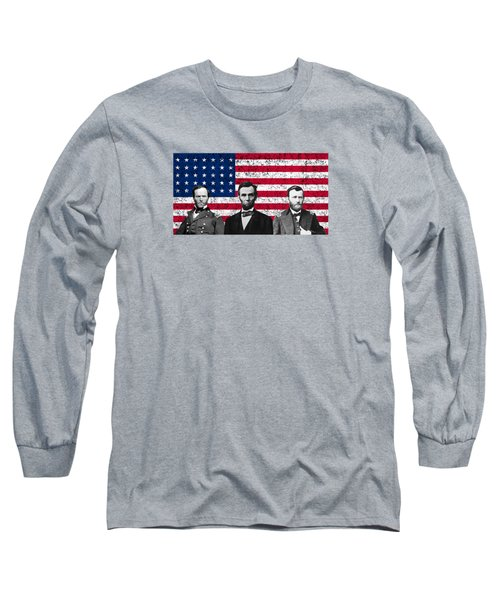 Sherman - Lincoln - Grant Long Sleeve T-Shirt by War Is Hell Store