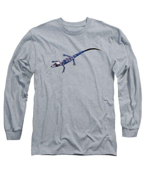 Slightly Waving A Tail. Alligator Baby Long Sleeve T-Shirt by Zina Stromberg