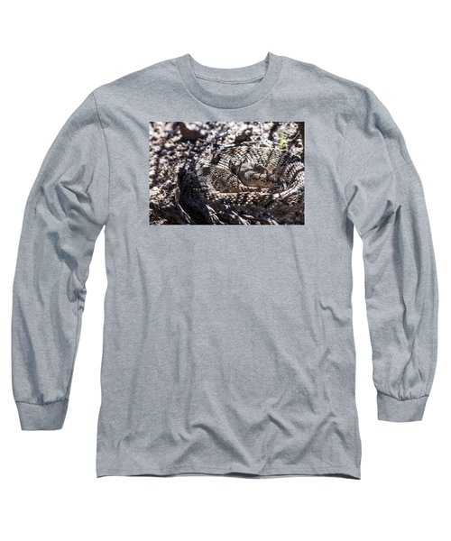 Snake In The Shadows Long Sleeve T-Shirt by Chuck Brown