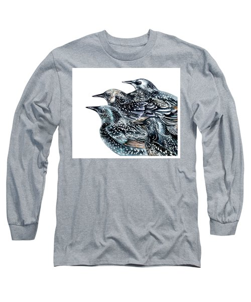 Starlings Long Sleeve T-Shirt by Marie Burke