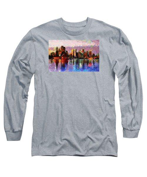 Sydney Here I Come Long Sleeve T-Shirt by Sir Josef - Social Critic - ART