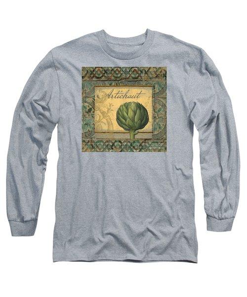Tavolo, Italian Table, Artichoke Long Sleeve T-Shirt by Mindy Sommers