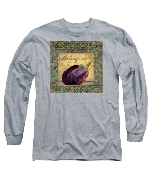 Tavolo, Italian Table, Eggplant Long Sleeve T-Shirt by Mindy Sommers