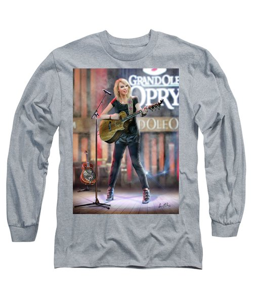 Taylor At The Opry Long Sleeve T-Shirt by Don Olea