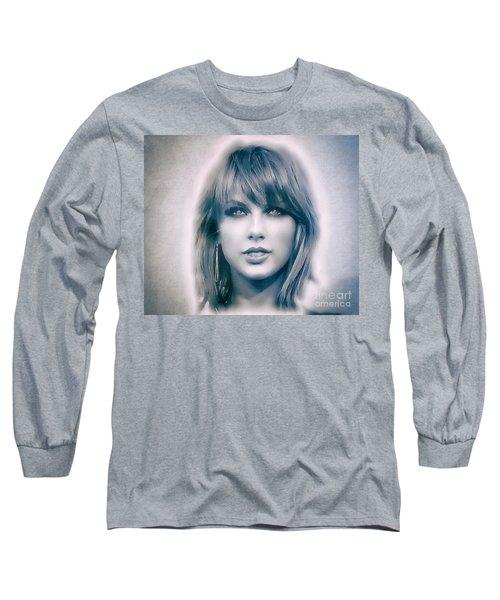 Taylor Swift - Beautiful Long Sleeve T-Shirt by Robert Radmore