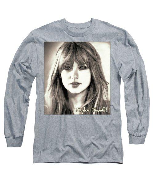 Taylor Swift - Glowing Beauty Long Sleeve T-Shirt by Robert Radmore