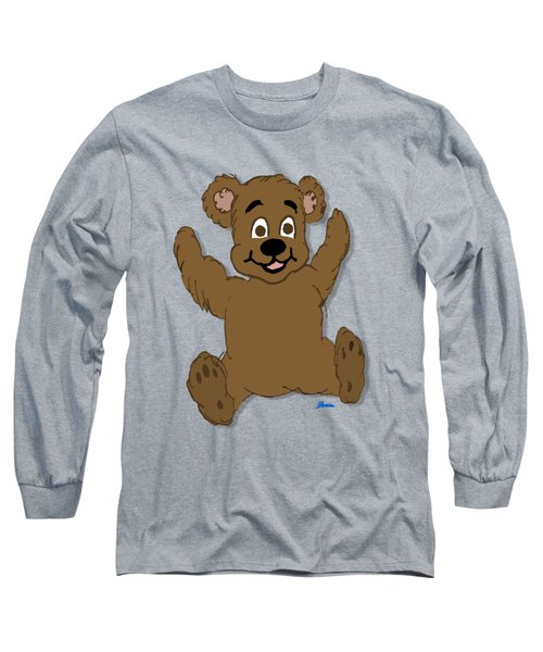 Teddy's First Portrait Long Sleeve T-Shirt by Pharris Art