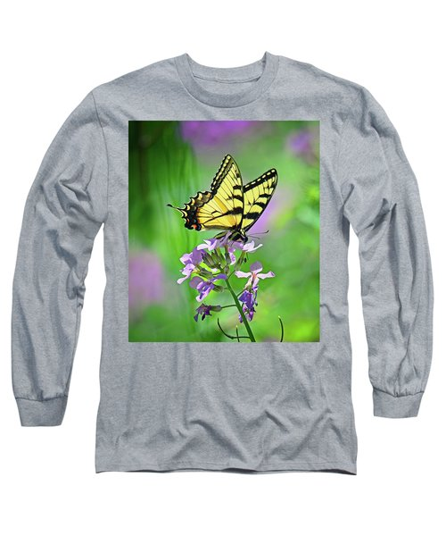Long Sleeve T-Shirt featuring the photograph Tiger Swallowtail by Rodney Campbell