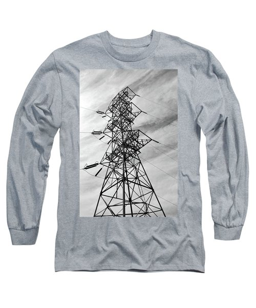 Transmission Tower No. 1-1 Long Sleeve T-Shirt by Sandy Taylor