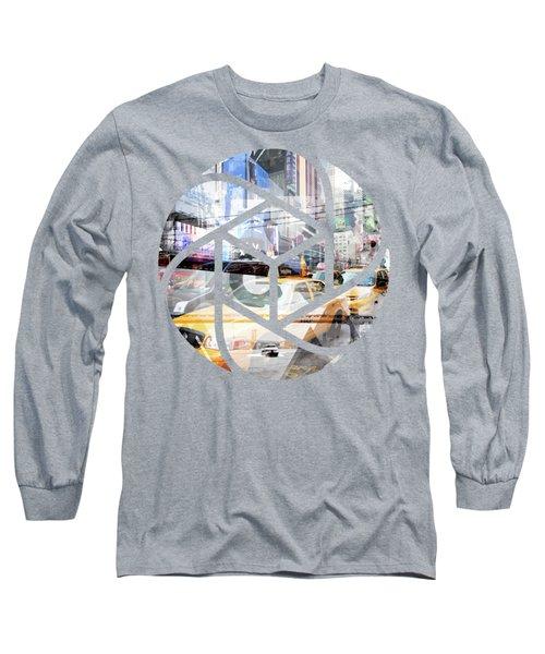 Trendy Design Nyc Geometric Mix No 9 Long Sleeve T-Shirt by Melanie Viola