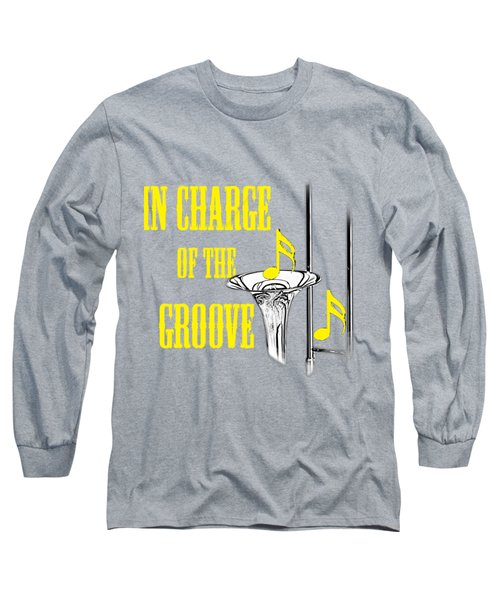 Trombones In Charge Of The Groove 5534.02 Long Sleeve T-Shirt by M K  Miller