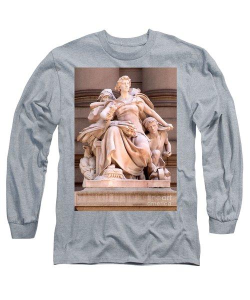 U S Custom House 4 Long Sleeve T-Shirt by Randall Weidner