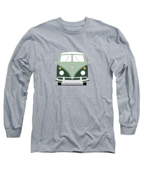 Vw Bus Green Long Sleeve T-Shirt by Mark Rogan