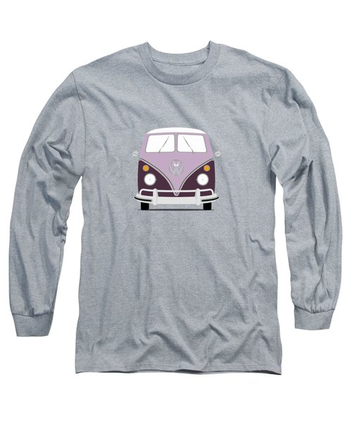 Vw Bus Purple Long Sleeve T-Shirt by Mark Rogan