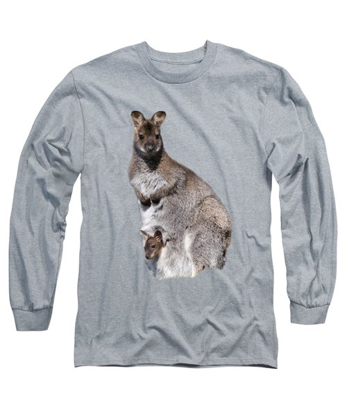 Wallaby Long Sleeve T-Shirt by Scott Carruthers