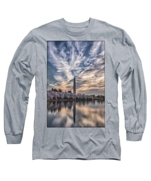 Washington Blossom Sunrise Long Sleeve T-Shirt by Erika Fawcett