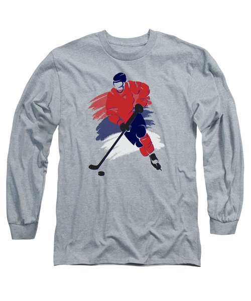 Washington Capitals Player Shirt Long Sleeve T-Shirt by Joe Hamilton