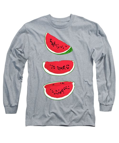 Watermelon Long Sleeve T-Shirt by Evgenia Chuvardina