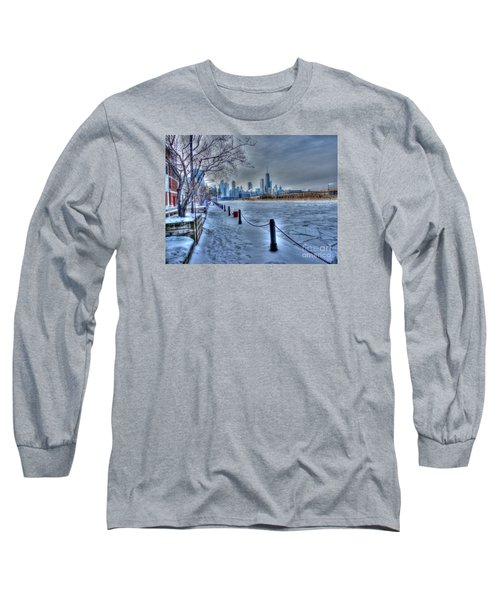 West From Navy Pier Long Sleeve T-Shirt by David Bearden