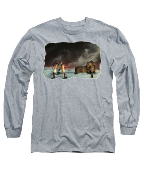 Where Giants Dwell Long Sleeve T-Shirt by Terry Fleckney