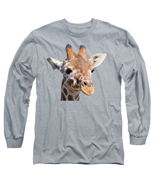 Young Giraffe  Long Sleeve T-Shirt by Scott Carruthers