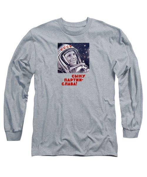 Yuri Gagarin - Soviet Space Propaganda Long Sleeve T-Shirt by War Is Hell Store