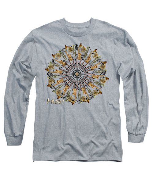 Zeerkl Of Music Long Sleeve T-Shirt by Edelberto Cabrera