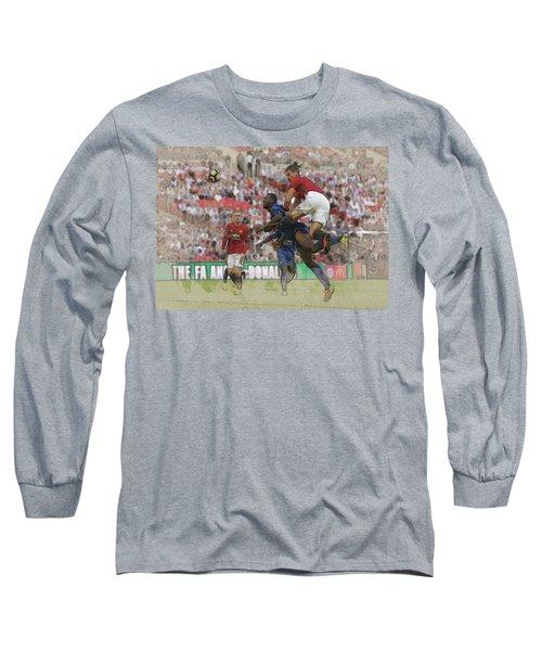 Zlatan Ibrahimovic Header Long Sleeve T-Shirt by Don Kuing