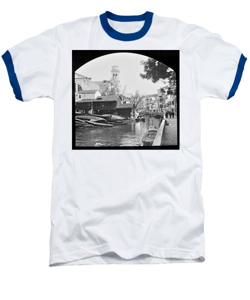 Baseball T-Shirt featuring the photograph Pegnitz River Nuremberg Germany 1903 by A Gurmankin