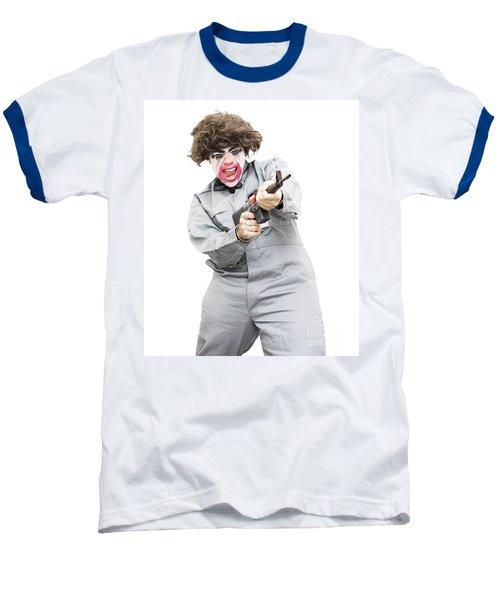 Female Psycho Killer Baseball T-Shirt by Jorgo Photography - Wall Art Gallery