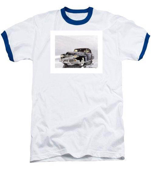 1946 Lincoln Continental Convertible Foggy Reflection Baseball T-Shirt by Jack Pumphrey