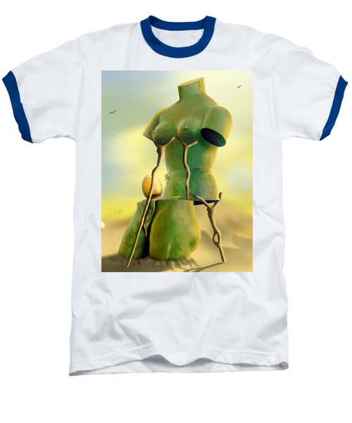 Crutches Baseball T-Shirt by Mike McGlothlen